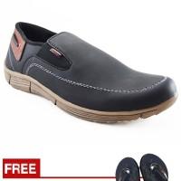 Jual Sepatu Pria Loafers Santai Kampus Dan Kerja Redknot Liftopp Black Murah