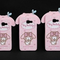 Samsung J510 / J5 2016 3D My Melody Bow Neck Strap Silicone Phone case