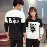 Jual [Cp Beatles Black LT] baju couple babyterry hitam Murah