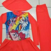 Jual baju renang muslim anak SD litle ponny Murah