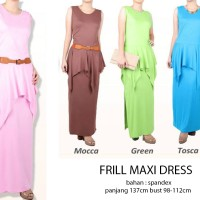Jual Frill Maxi Dress Murah