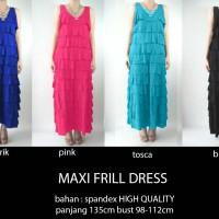 Jual Maxi Frill Dress (1039) (4,9) Murah