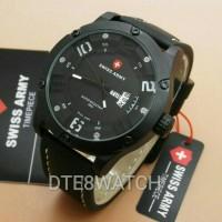 Jual ORIGINAL Swiss Army 3035M Leather 1 Year Guaranted Murah