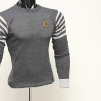 Jual Sweater Rajut O-Neck / Mens Casual Style / Striped / elbow / Siku Murah