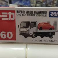 Diecast Tomica No.60 Isuzu Elf Vehicle Transporter Red & White NEW ORI