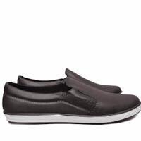 Jual Sepatu Karet - Pantofel - Sepatu Kerja Anti Air dan Hujan Dark Brown Murah
