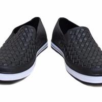 Jual Sepatu Karet Pria - Pantofel - Sepatu Kerja Anti Air Hujan Motif Anyam Murah