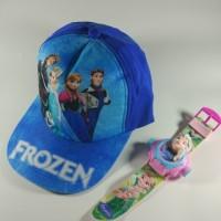 Jual SALE!! Paket Topi + Jam Tangan Frozen Murah