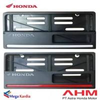 Tempat Cover Plat Nomor Honda Motor Original AHM