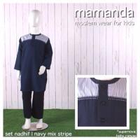 Jual Koko Anak Mamanda Set Nadhif Navy Mix Stripe XS 1-2 Tahun Murah