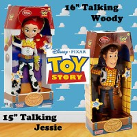 GENUINE Disney Pixar Toy Story Woody and Jessie Talking Figure Doll So