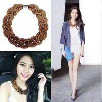 Jual Braided Crystal Necklace - Gold Ombre Murah