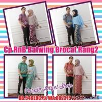 Jual Couple Setelan Rok N Blouse BATWING BROKAT Exclusive Batik Rang-Rang Murah