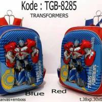Jual Terbaru Tas Ransel Anak Cowok Robot Transformer Optimus Prime Murah
