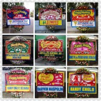 Papan Bunga Happy Wedding(150x200)standar