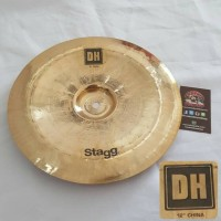 "Stagg Cymbal DH-CH12B - 12"" Dual Hammered Brilliant China"