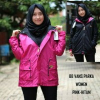 Jual OP3832 Jaket Bolak Balik Vans Parka Woman Pink Hitam KODE Bimb4309 Murah