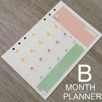 Sunny Day Loose Leaf Binder Paper A5 B / Kertas File Monthly Planner