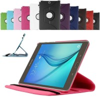 Rotari Leather Case Samsung Tab a T350 P355 Stand Cover