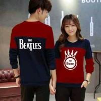 Jual Outwear Couple Sweater Beatles Maroon Murah