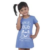 Jual Kaos Anak Branded Owl Lovers Burung Hantu Biru Murah