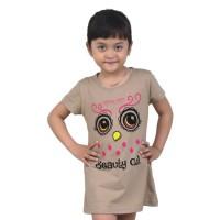 Jual Kaos Anak Branded Beauty Owl Burung Hantu Cokelat Murah