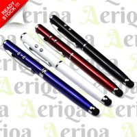4in1 Stylus Pen HP + Laser + Senter + Pulpen - Capacitive Touch Screen