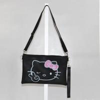 Tas Slingbag Wanita Cantik Motif Gambar Hello Kitty Lucu.