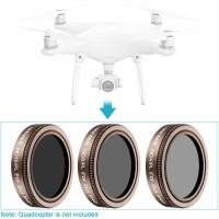 Neewer 3Pcs Lens Filter Kit (ND4/PL+ND8/PL+ND16/PL) DJI Phantom 4 PRO