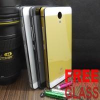 Jual Case Aluminium Glass iPhone 5 Style Backdoor Xiaomi Redmi Note 2 Murah
