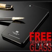 Jual Hardcase Alumunium Tempered Glass Hard Back Cover Case Xiaomi Redmi 3 Murah