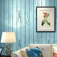 Wallpaper Sticker 10m Kayu Papan Biru