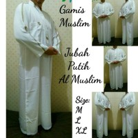 Jual Baju Muslim Gamis Pria Jubah Putih AL-MUSLIM Murah