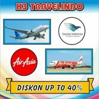 Promo Tiket Pesawat Garuda / Airasia Diskon up to 40% dari Tr*veloka