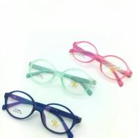 Paket Frame Kacamata Anak Lemon Kids Ouval + Lensa Minus Antiradiasi
