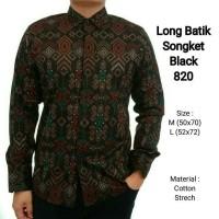 Jual jual kemeja batik songket pria lengan panjang formal Murah