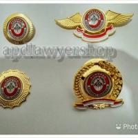Sepaket 4 item Pin Wing Kongres Advokat Indonesia kuningan ORIGINAL