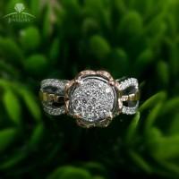 Terbaru Cincin Emas Putih Full Berlian Eropa