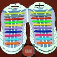 Jual 100% Silicone Shoelaces - Mix Colors - Tali Sepatu Unik Bahan Silikon Murah