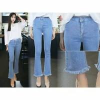 Celana Jeans Hightweist Cutbray-HGCS