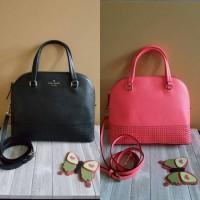 Tas BRAND KATE SPADE Carlie Coral Black Leather Sling Bag AUTHENTIC