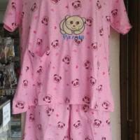 Jual Setelan Kaos Lgn Pendek & Celana Selutut Panda Love Murah