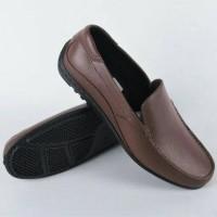 Jual Sepatu Pantofel Karet Pria ATT ABK 350 warna Coklat Brown Murah