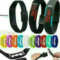 JAM TANGAN GELANG LED SPORT SPORTY ADIDAS NIKE PUMA WATCH ANAK KIDS