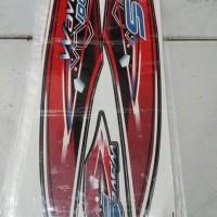 striping variasi honda supra x & suprq fit 100 wave s merah