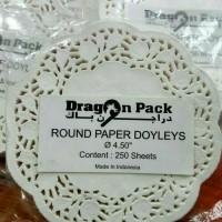 """Renda Paper Doyles, kertas toples kue 4.5"""", grade A 250pcs"""