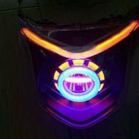 lampu projie LED GEN 2 headlamp reflektor beat pop f1 injeksi