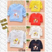 Kaos Lengan Panjang Pooh / Kaos Anak /Baju Anak Import Winnie The Pooh