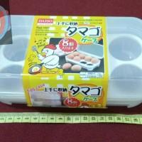 Daiso Eggs Case Container Box / Tempat Telur Isi 8pcs - Traveling