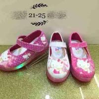 Jual Sepatu LED Hello Kitty Purple Sepatu HK Led21-25 Limited Murah